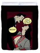 Clark Gable Cartoon Poster Duvet Cover