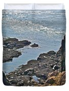 Clashing Tides At Tip Of Cape D'or-ns Duvet Cover