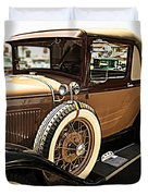 Classic 1928 Ford Model A Sport Coupe Convertible Automobile Car Duvet Cover