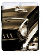 Classic '57 Chevy Bel Air In Sepia  Duvet Cover
