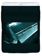 Classic '57 Teal And Chrome Duvet Cover