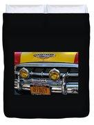 Classic New York City Cab - Detail Duvet Cover
