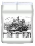 Classic Auto With Chateau Duvet Cover