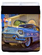 Classic Blue Caddy At Night Duvet Cover