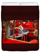 Classic Cadillac Beauty In Red Duvet Cover