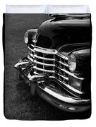 Classic Cadillac Sedan Black And White Duvet Cover