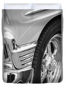 Classic Car Reflections - Training Wheels -179bw Duvet Cover