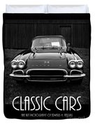 Classic Cars Front Cover Duvet Cover