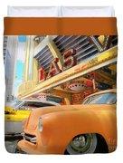 Classic Car's Of Las Vegas Duvet Cover