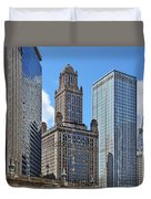 Classic Chicago -  The Jewelers Building Duvet Cover