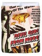 Classic Devil Girl From Mars Poster Duvet Cover