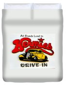 Classic Drive In Sign Duvet Cover
