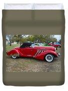 Auburn 1936 Roadster Classic Elegance Duvet Cover