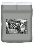 Classic Engine - Classic Cars At The Concours D Elegance. Duvet Cover