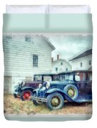 Classic Ford Model A Cars Duvet Cover