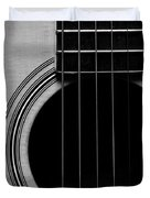 Classic Guitar In Black And White Duvet Cover