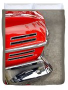 Classic Impala In Red Duvet Cover