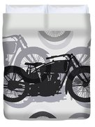 Classic Motorcycle  Duvet Cover by Daniel Hagerman