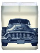 Classic Old Car On Vintage Background Duvet Cover