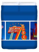 Classic Old Neon Signs Duvet Cover