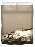Classic P-51 Mustang Fighter Plane Duvet Cover