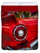 1957 Ford Thunderbird Classic Car  Duvet Cover