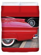 Classic Red And Black Duvet Cover