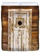 Classic Rustic Rural Worn Old Barn Door Duvet Cover