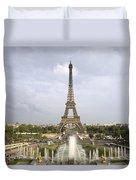 Classic View Of Paris Duvet Cover