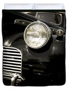 Classic Vintage Car Black And White Duvet Cover