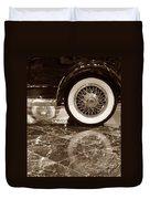 Classic Wheels Sepia Duvet Cover