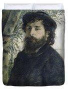 Claude Monet Self-portrait Duvet Cover
