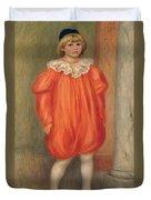 Claude Renoir In A Clown Costume Duvet Cover