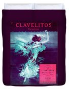 Clavelitos Duvet Cover