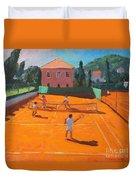 Clay Court Tennis Duvet Cover
