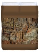 Clay Mountain Formations In Front Duvet Cover