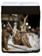 Clay Sculptured Model  Duvet Cover