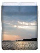Clayton Lake Sunset Duvet Cover