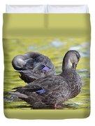 Ducks On Green Duvet Cover