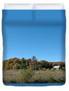 Clear Autumn Country Sky Duvet Cover