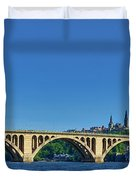 Clear Blue Skies At Key Bridge Duvet Cover