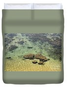 Clear Indian Ocean Water With Rocks At Galle Sri Lanka Duvet Cover