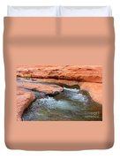 Clear Water At Slide Rock Duvet Cover by Carol Groenen