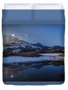 Clear Water Rainier Reflection Duvet Cover