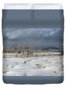 Clearing Storm In The Tetons Duvet Cover