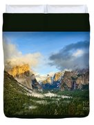 Clearing Storm - Yosemite National Park From Tunnel View. Duvet Cover