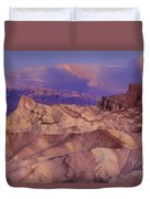 Clearing Sunrise Storm Zabriske Point Death Valley National Park California Duvet Cover
