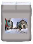 Clearing The Way...downtown Buffalo Ny 2014 Duvet Cover
