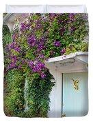 Clematis Around The Door Duvet Cover