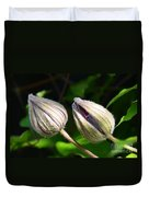 Clematis Buds Duvet Cover